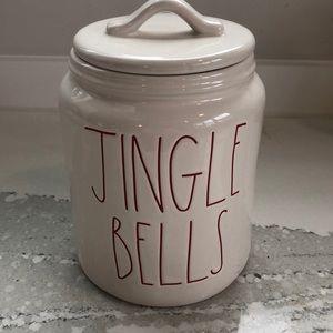 Rae Dunn- Jingle Bells Canister NEW!